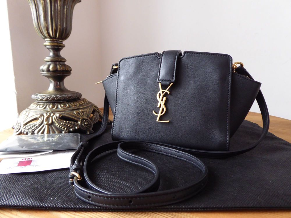 Saint Laurent YSL Y Line Toy Cabas Mini Bag in Black Calfskin