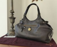 Mulberry Somerset Shoulder Tote in Chocolate Pebbled Leather - New
