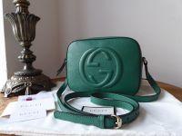 Gucci Soho Crossbody in Dark Green Pebbled Calfskin - As New*