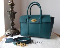 Mulberry New Style Small Bayswater Satchel in Ocean Green Small Classic Grain - As New