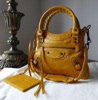 Balenciaga Sac Classique Mini in Marigold Chevre
