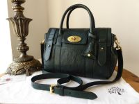 Mulberry Small Bayswater Satchel Heritage Pheasant Green Soft Matte High Pebbled Patent Mix - SOLD