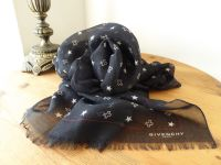 Givenchy Star Crossed Rectangular Scarf in Cashmere Silk Mix - New*