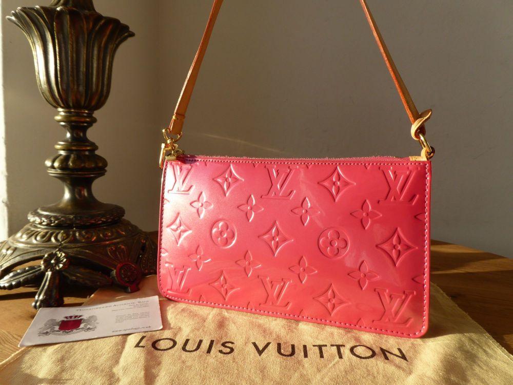 Louis Vuitton Lexington Pochette in Framboise Monogram Vernis
