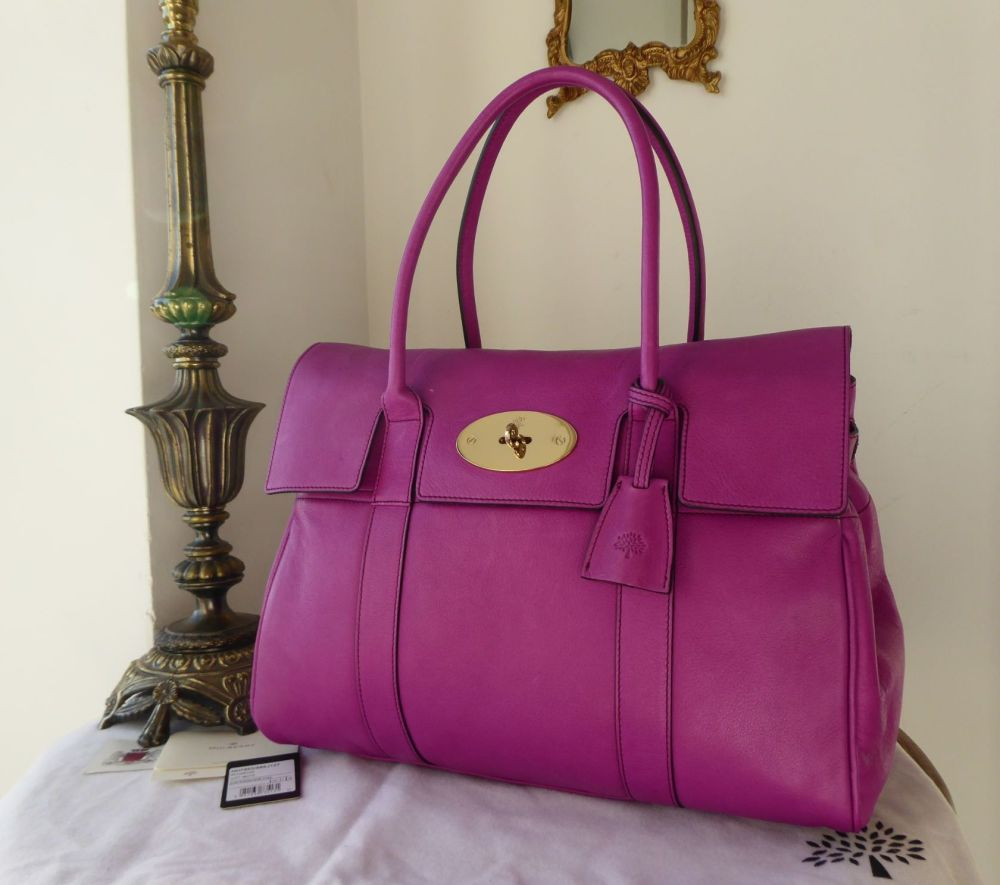 Mulberry Classic Heritage Bayswater in Foxglove Soft Matte Leather