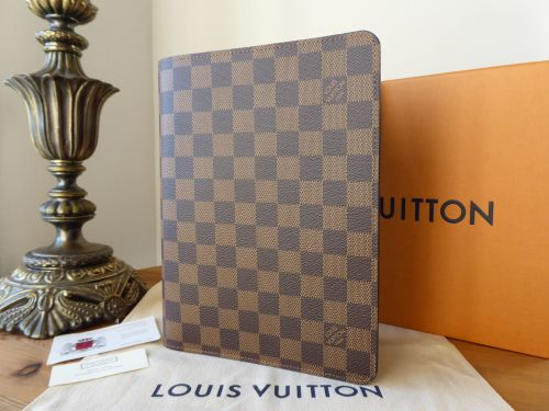 Louis Vuitton Desk Agenda Cover in Damier Ebene - As New*