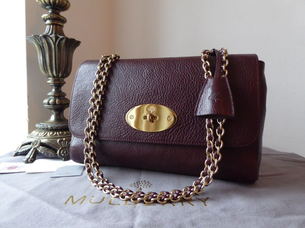 Mulberry Medium Lily in Oxblood Natural Leather