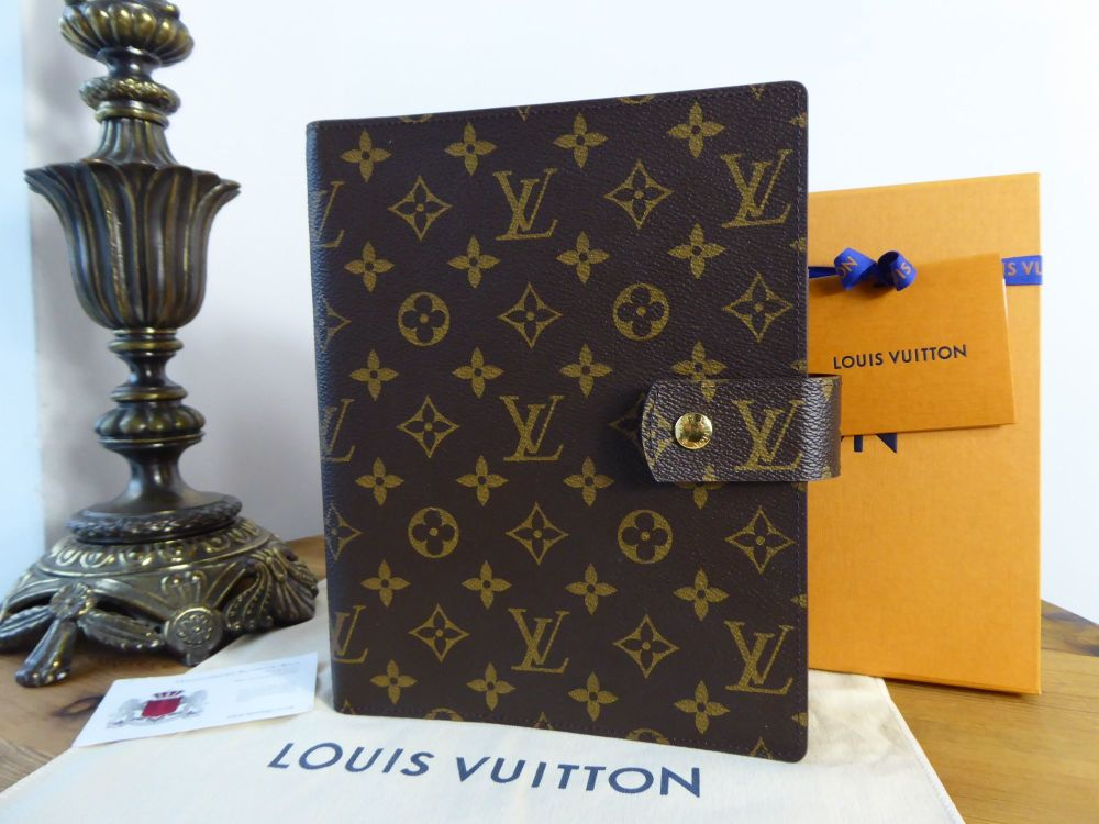 Louis Vuitton Large Ring Agenda Cover GM in Monogram Canvas New
