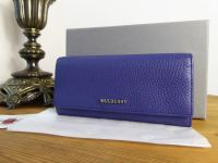 Mulberry Continental Flap Wallet in Indigo Soft Grain Leather