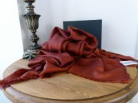 Mulberry Tree Large Square Scarf Wrap in Rust Silk Cotton Mix - New*