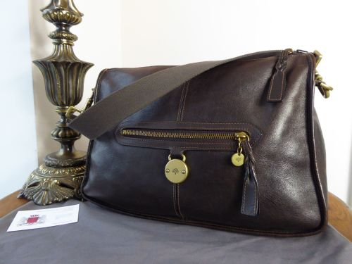 Mulberry Somerset Despatch Satchel in Chocolate Natural Leather