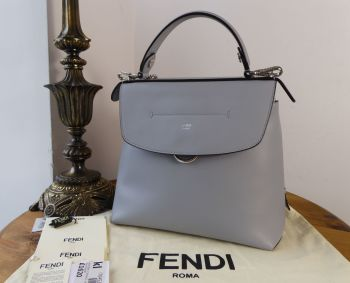 Fendi Back to School Large Backpack in Blue Powder Smooth Calfskin