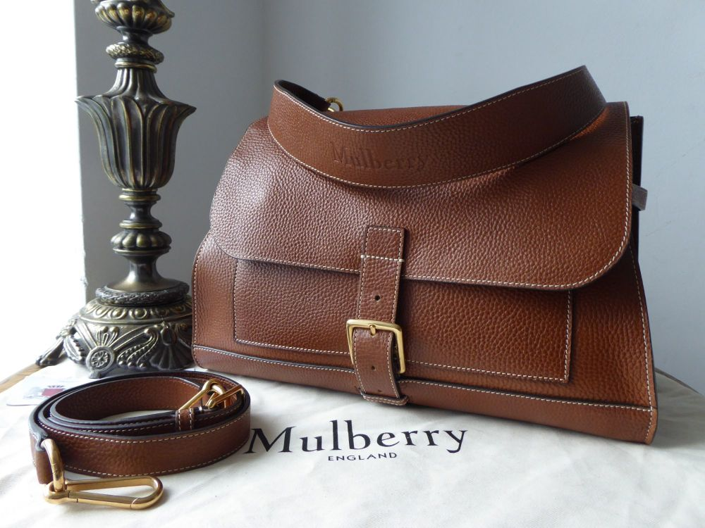 Mulberry Chiltern Buckle Satchel in Oak Grain Vegetable Tanned Leather