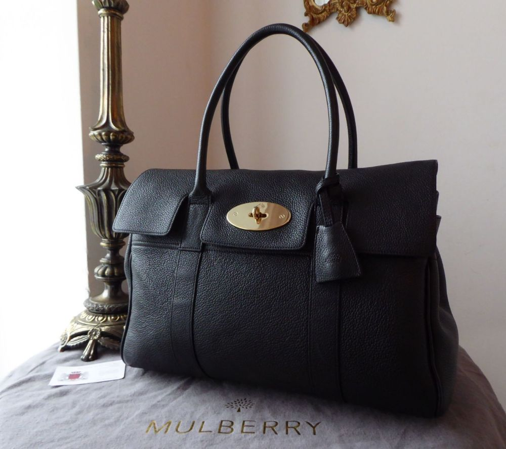 Mulberry Classic Heritage Bayswater in Black Small Classic Grain Leather