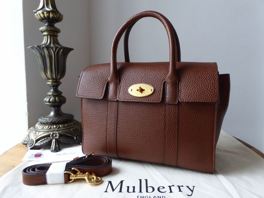 Mulberry Small Bayswater in Oak Grained Vegetable Tanned Leather - New
