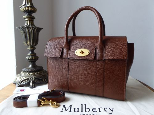 f026f8f239 Mulberry Small Bayswater in Oak Grained Vegetable Tanned Leather - New