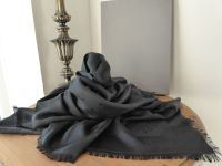 Mulberry Tree Large Square Scarf Wrap in Black Silk Cotton Mix - New*