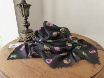 Mulberry Floating Jewels Printed Rectangular Scarf Wrap in Modal Silk Mix - SOLD