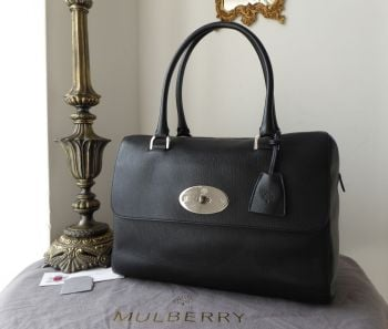 Mulberry Del Rey (Larger Sized) in Black Glossy Goat with Silver Nickel Hardware - SOLD