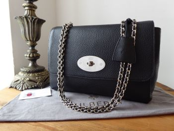 Mulberry Lily Medium in Black Soft Grain Leather with Silver Nickel Hardware - SOLD