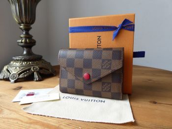 Louis Vuitton Victorine Wallet Compact Purse in Monogram Rouge - SOLD