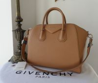 Givenchy Antigona in Marron Caramel Sugar Goatskin Leather