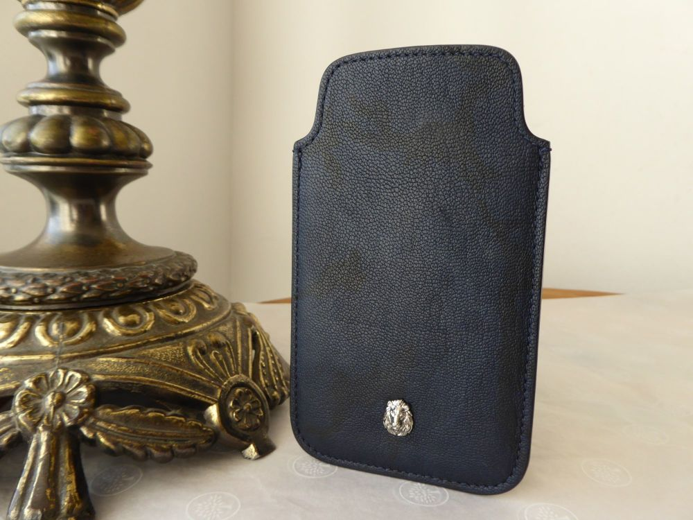 Mulberry Cara Camo Phone Slip Case in Navy Blue Camo Printed Goat