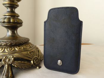 Mulberry Cara Camo Phone Slip Case in Navy Blue Camo Printed Goat - SOLD