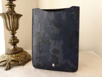 Mulberry Cara Camo Ipad Tablet Sleeve in Navy Blue Camo Printed Goat