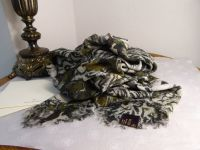 Mulberry Feathered Friends Large Square Wrap in Silk Modal Mix
