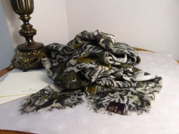Mulberry Feathered Friends Large Square Wrap in Silk Modal Mix - SOLD