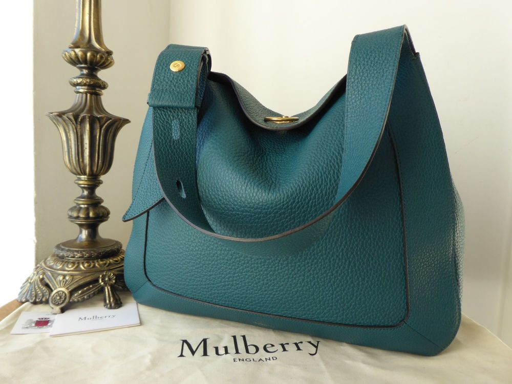 Mulberry Marloes Hobo in Imperial Blue Classic Grainy Calf