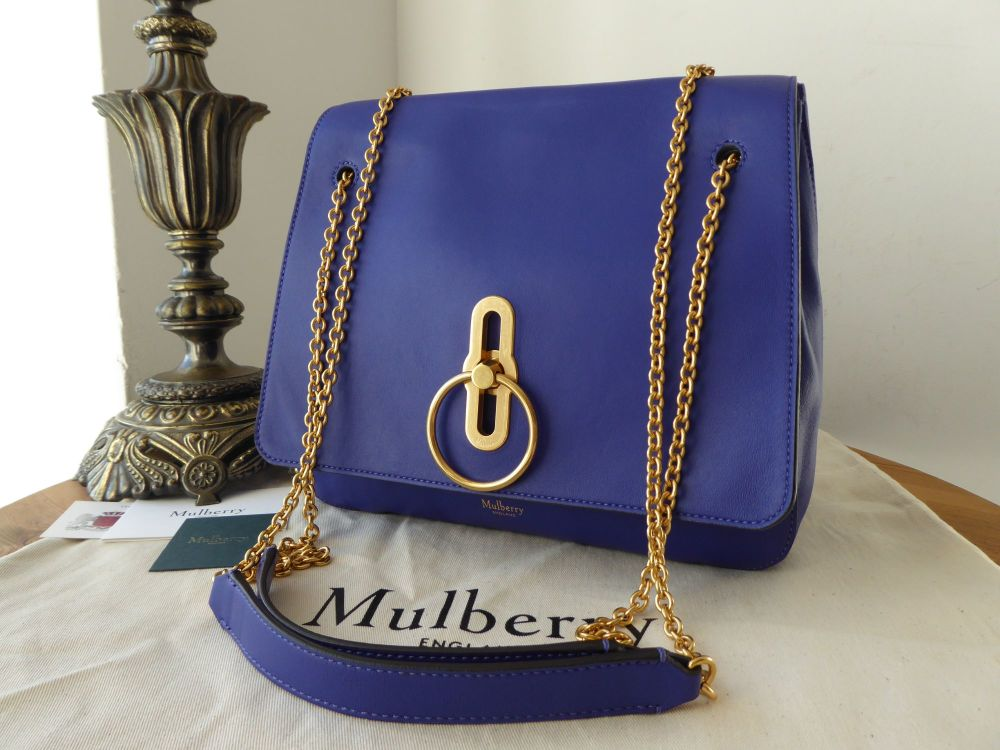 Mulberry Marloes Satchel in Cobalt Blue Soft Lamb Nappa - As New*