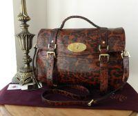 Mulberry Oversized Alexa in Shiny Oak Leopard Print Leather