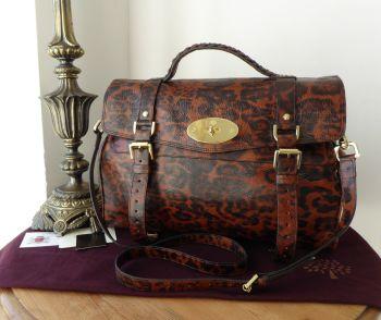 Mulberry Oversized Alexa in Shiny Oak Leopard Print Leather - SOLD
