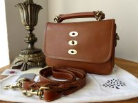 Mulberry Small Bryn Satchel in Oak Natural Leather