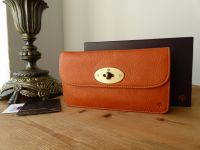 Mulberry Classic Postmans Lock Long Locked Continental Flap Purse in Ginger Darwin Leather