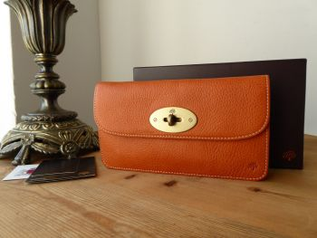 Mulberry Classic Postmans Lock Long Locked Continental Flap Purse in Ginger Darwin -SOLD