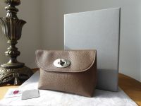 Mulberry Locked Cosmetic Pouch in Taupe Small Classic Grain - As New