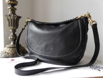 Mulberry Effie Satchel in Black Spongy Pebbled Leather - SOLD