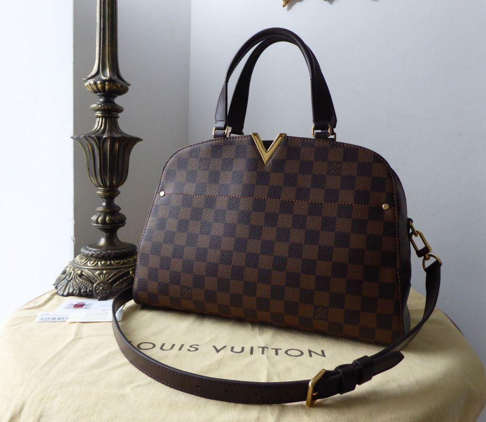 28b0bacfdc67 Louis Vuitton Kensington Bowler in Damier Ebene - SOLD