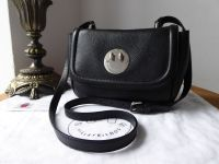 Hill & Friends Happy Mini Bag in Liqourice Black Grainy Calfskin with Silver Hardware