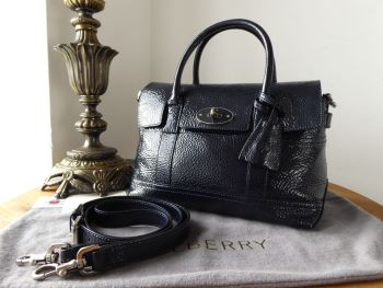 Mulberry Holiday Small Bayswater Satchel in Nightshade Blue Spongy Patent Leather - SOLD