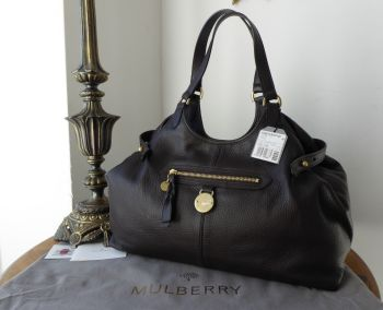 e891d455be7 Mulberry Somerset Shoulder Tote in Chocolate Pebbled Leather - SOLD