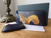 Mulberry Squirrel Continental Part Zip Long Wallet with Coin Purse
