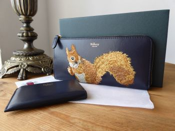 Mulberry Squirrel Continental Part Zip Long Wallet with Coin Purse - SOLD