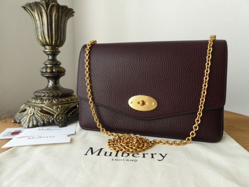 Mulberry Medium Darley in Oxblood Grained Vegetable Tanned Leather - New*