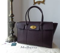 Mulberry Bayswater in Oxblood Small Classic Grain Leather with Felt Liner 5e036e956965f