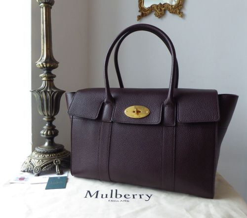 Mulberry Bayswater in Oxblood Small Classic Grain Leather with Felt Liner