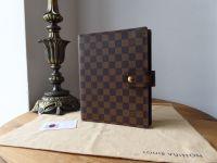 Louis Vuitton Large Ring Agenda Cover GM in Damier Ebene - As New
